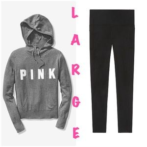 VS Pink Large Hoodie & Leggings Set
